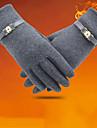 Damă Solid Iarnă Mănuși de Iarnă Αντιανεμικό Keep Warm Catifea,Lungime Încheietură Vârfurile Degetelor