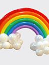 arc ballon mis decor de mariage de fete d\'anniversaire (20 long ballon, 16 ballon rond, couleur aleatoire)