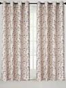 Stångficka Hyls-topp Hällor topp Dubbel veckad Penn veck Fönster Behandling Land , Jacquard Blommig Sovrum Polyesterblandning Material