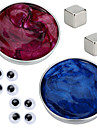 2 pcs Juguetes Magneticos Plastilina magnetica Bloques de Construccion Puzzle Cube Magnetica De Armar Tipo magnetico Alivio del estres y la ansiedad Juguetes de oficina Novedad Ojos Ninos / Adulto