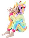Kigurumi-pyjamas Pegasus / Unicorn Onesie-pyjamas Kostym Flanelltyg Gul Cosplay För Barn Pyjamas med djur Tecknad serie halloween
