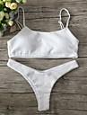 Pentru femei Bikini - De Bază, Mată Halter Tanga Bustieră Fașă Elastică