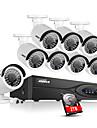 ankke® 8ch cctv nvr sistem poe 1080p video ourput 2.0m cctv camera impermeabilă ip cu 2tb