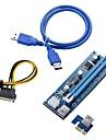 30cm pci-e pci Express Riser-kort 1x till 16x USB 3.0 Datakabel SATA till 4pin Ide Molex Strömförsörjning för BTC Miner mining