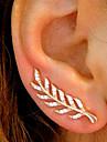 Pentru femei Zirconiu Cubic Cercei Stud / Cățărătorii de urechi - Leaf Shape Simplu, Vintage, Modă Auriu / Argintiu / Roz auriu Pentru Zilnic / Muncă