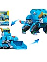 Robotar Leksaksbåtar Schaktare Leksaker Dinosaurie Djur Djur Fordon Djur omvandlings Föräldra-Barninteraktion Klassisk Djurmönstrad Mjuk