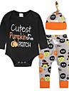 Bebelus Unisex Set Îmbrăcăminte Imprimeu Bumbac Zilnic Ieșire Toate Sezoanele Manșon Lung Simplu Casual Negru