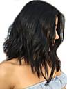 Äkta hår Hel-spets Peruk Brasilianskt hår Naturligt vågigt Löst vågigt Bob-frisyr 130% Densitet Korta Mellan Dam Äkta peruker med hätta