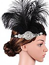 The Great Gatsby Flapper Headband 1920s / Roaring 20s Women\'s Black Rhinestone / Feather Party Prom Cosplay Accessories Masquerade Costumes