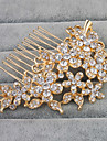 Alloy Hair Combs with Rhinestone 1pc Wedding Daily Wear Headpiece
