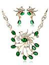 Pentru femei Set bijuterii - Placat Auriu Boem, Modă Include Seturi de bijuterii de mireasă Verde Pentru Nuntă / Ceremonie