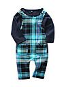 Bebelus Băieți Set Îmbrăcăminte Plisat Bumbac Zilnic Primăvară Manșon Lung Casual Bleumarin