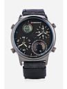 SHI WEI BAO בגדי ריקוד גברים שעוני ספורט שעוני אופנה שעונים צבאיים קווארץ גדול שחור / לבן / כחול מדחום מצפן אזור זמן כפול אנלוגי יום יומי - שחור כחול בהיר ירוק שנה אחת חיי סוללה / צג גדול / SSUO 377