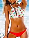 Pentru femei Bikini - Imprimeu, Floral Cu Bretele Halter
