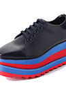 Pentru femei Pantofi PU Primăvară Toamnă Confortabili Oxfords Creepers Vârf rotund pentru Alb Negru
