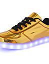 Herr Skor PU Vår Höst Komfort Sneakers för Casual Guld Silver
