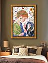 Oameni Animale Ilustrație Wall Art,PVC Material cu Frame For Pagina de decorare cadru Art Sufragerie Dormitor Bucătărie Cameră Copii Birou