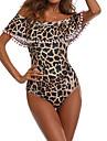 Pentru femei O Piesă - Bufantă Imprimeu, Leopard De Pe Umăr Cheeky