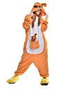 Pyjamas Kigurumi Kangourou Combinaison de Pyjamas Costume Polaire Fibre synthetique Orange Cosplay Pour Adulte Pyjamas Animale Dessin