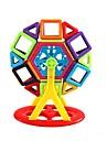 Magnetiskt block Byggklossar 130pcs Rund Fyrkantig Bilar Föräldra-Barninteraktion Leksak Truck Entreprenadmaskiner Flickor Leksaker