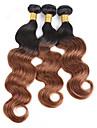 Brasilianskt hår Klassisk Kroppsvågor Hårförlängning av äkta hår 3 delar Hög kvalitet Human Hår vävar Dagligen