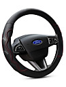 Steering Wheel Covers Genuine Leather 38cm Black / Red For Ford Focus / Escort / Fiesta All years