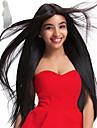 Perruque Synthetique Droit Cheveux Synthetiques Ligne de Cheveux Naturelle / Au Milieu / Perruque afro-americaine Noir / Blanc Perruque