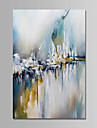 Oil Painting Hand Painted - Abstract Comtemporary Simple Modern Canvas