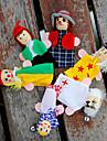 Fingerdockor Hand- och fingerdockor Låtsaslek Utbildningsleksak Leksaker Leksaker Söt Vackert Plysh Barn Flickor 6 Bitar