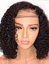 Human Hair Glueless Lace Front Lace Front Wig Bob style Brazilian Hair Curly Wig 130% Density with Baby Hair Natural Hairline African American Wig 100% Virgin Unprocessed Women\'s Short Human Hair
