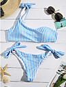Pentru femei Dungi Bikini Costume de Baie Albastru piscină