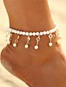 Cristal Brățară Gleznă - Perle Picătură Boem, Modă, Boho Auriu / Argintiu Pentru Carnaval / Bikini / Pentru femei