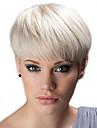 Human Hair Capless Wigs Human Hair Straight Pixie Cut Natural Hairline Machine Made Wig