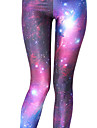 Women\'s Yoga Pants Sports Galaxy Star Print Tights Leggings Zumba Running Fitness Activewear Lightweight Breathable Quick Dry Stretchy Skinny