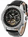 Jaragar Bărbați Ceas de Mână Ceas Elegant  Ceas La Modă Ceas Casual Mecanism automat Calendar Piele Bandă Casual Cool Negru