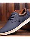 Bărbați Pantofi PU Primăvară / Toamnă Confortabili Oxfords Negru / Galben Deschis / Albastru