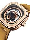 Erkek Bilek Saati Japonca Quartz Gerçek Deri Siyah / Pembe / Bej 30 m Su Resisdansı Kronograf Yaratıcı Analog Moda - Kahverengi Altın Kahverengi Altın / Siyah İki yıl Pil Ömrü / Paslanmaz Çelik