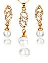 Pentru femei Set bijuterii - Simplu, Modă Include Cercei Picătură / Coliere cu Pandativ Auriu Pentru Nuntă / Petrecere / Zi de Naștere