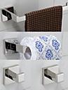 Set Accesorii Baie Contemporan Teak 4 buc - Hotel baie turn bar Robe Hook Suporturi De Hârtie Igienică