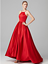 Princess Y Neck Sweep / Brush Train Satin Prom / Formal Evening Dress with Pleats by TS Couture® / High Low
