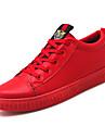 Herr Skor PU Vår Höst Komfort Sneakers Nit för Casual Svart Röd