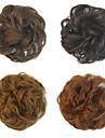 Medium Rödbrun Mörk Rödbrun Blekt Blont Kastanjebrun Rödlätt / Medium Rödbrun Blommor Hårknut Sexig Lady Snörning Syntetiskt hår Hårstycke