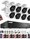 kits de systeme de securite annke® 8ch dvr avec 3mp hd 1tb disque dur 8pcs cameras cctv