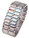 Ανδρικά Ψηφιακό ρολόι Ανοξείδωτο Ατσάλι Μαύρο / Ασημί 30 m Χρονογράφος Δημιουργικό Νεό Σχέδιο Ψηφιακό Πολυτέλεια Βραχιόλι - Μαύρο Ασημί Ενας χρόνος Διάρκεια Ζωής Μπαταρίας / SSUO LR626