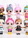 Tronzo 8Pcs/Bag Kawaii Boneca Animais de Brinquedo Pessoas Adorável Princesa Revestimento em Plástico Adulto Para Meninos Para Meninas Brinquedos Dom 8 pcs
