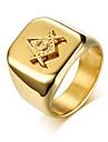 Bărbați Geometric Band Ring - Modă 9 / 10 / 11 Auriu Pentru Zilnic / Oficial