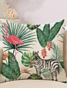 1 buc Bumbac / In Față de pernă / Pernă Noutate / Față de Pernă , Copaci / Frunze / Flamingo / Animal Tropical / O noua sosire