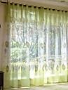 Rideaux opaques Salle de sejour Fleur Moderne Coton / Polyester Broderie