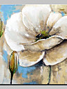 Oil Painting Hand Painted - Abstract Floral / Botanical Modern Canvas