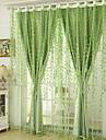 gardiner draperier Vardagsrum Blommig Bomull / Polyester Jacquard